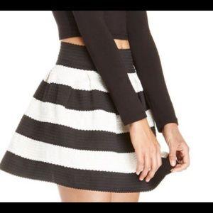 Striped Bandage Bell Skirt